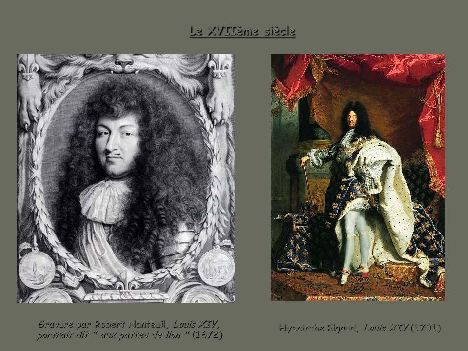 Le XVIIème siècle Gravure par Robert Nanteuil, Louis XIV, portrait dit