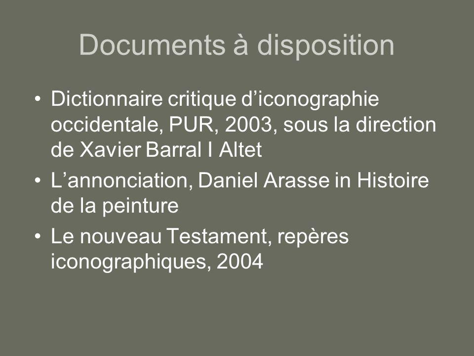 Documents à disposition Dictionnaire critique diconographie occidentale, PUR, 2003, sous la direction de Xavier Barral I Altet Lannonciation, Daniel A