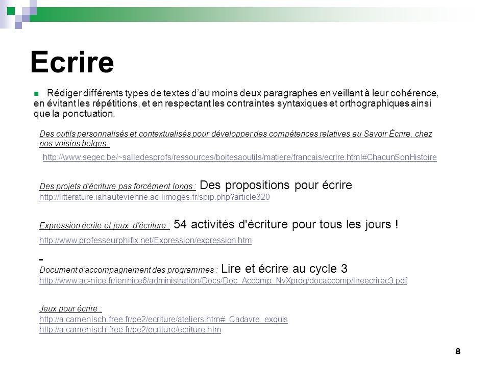 9 Vocabulaire Mise en œuvre du socle commun de connaissances et de compétences : acquisition du vocabulaire à lécole primaire : http://www.education.gouv.fr/bo/2007/12/MENB0700659C.htm http://www.lire-ecrire.org/uploads/media/CYCLE_DES_APPROFONDISSEMENTS-p34_.pdf Une progression générale au cycle 3 en français pour faire accéder tous les élèves à la maîtrise de la langue française, à une expression précise et claire à loral comme à lécrit, relève dabord de lenseignement du français mais aussi de toutes les disciplines : les sciences, les mathématiques, lhistoire, la géographie, léducation physique et les arts.