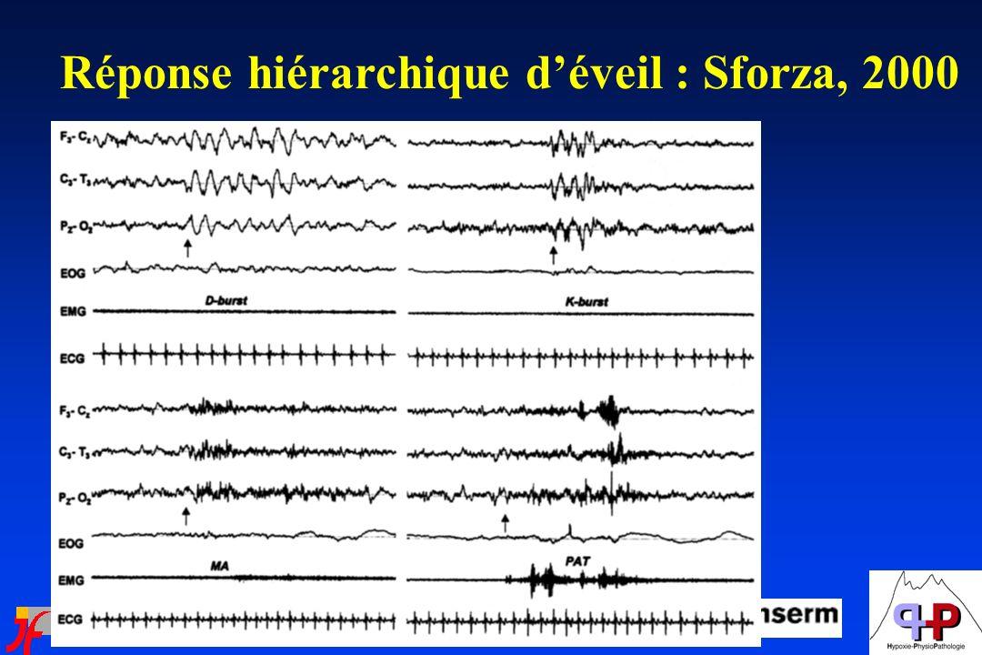 Réponse hiérarchique déveil : Sforza, 2000