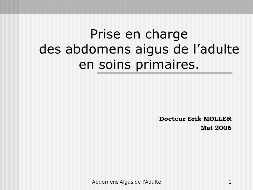 Abdomens Aigus de l Adulte32 Les appendicectomies « inutiles ».