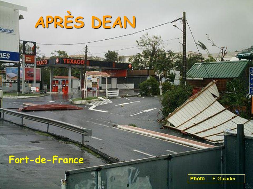 APRÈS DEAN Fort-de-France Photo : F. Guiader