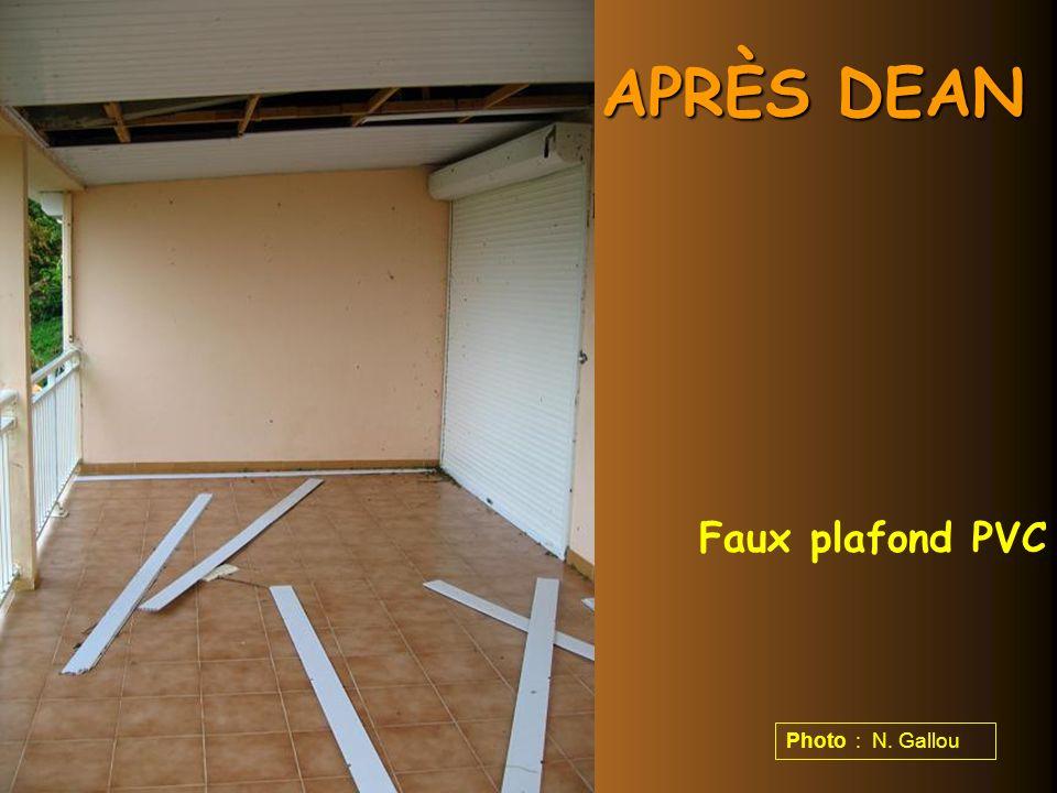 APRÈS DEAN Faux plafond PVC Photo : N. Gallou
