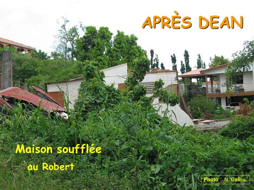 APRÈS DEAN Maison soufflée au Robert Photo : N. Gallou