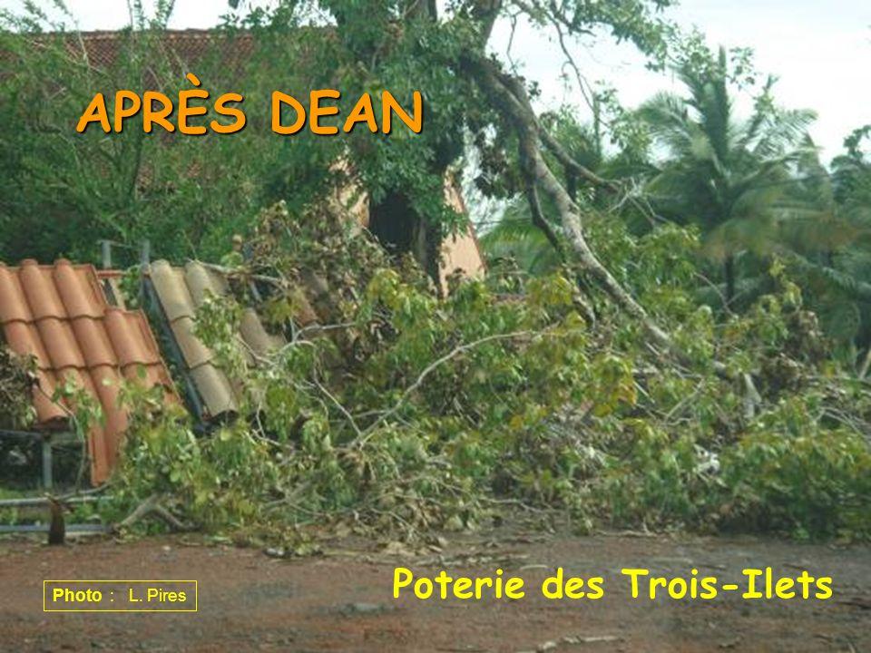 APRÈS DEAN Poterie des Trois-Ilets Photo : L. Pires