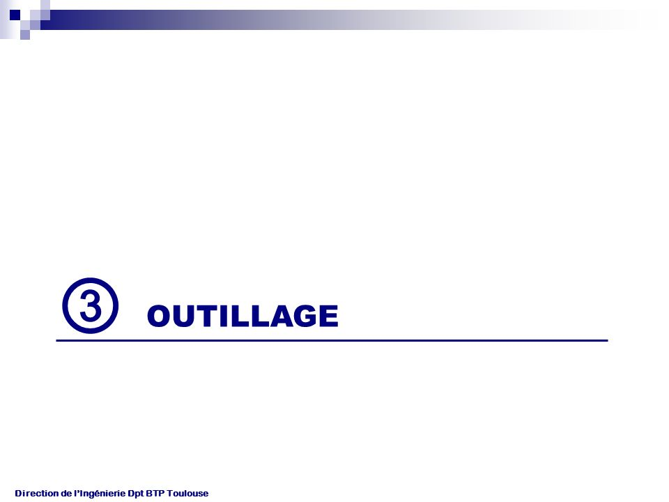 Direction de lIngénierie Dpt BTP Toulouse OUTILLAGE