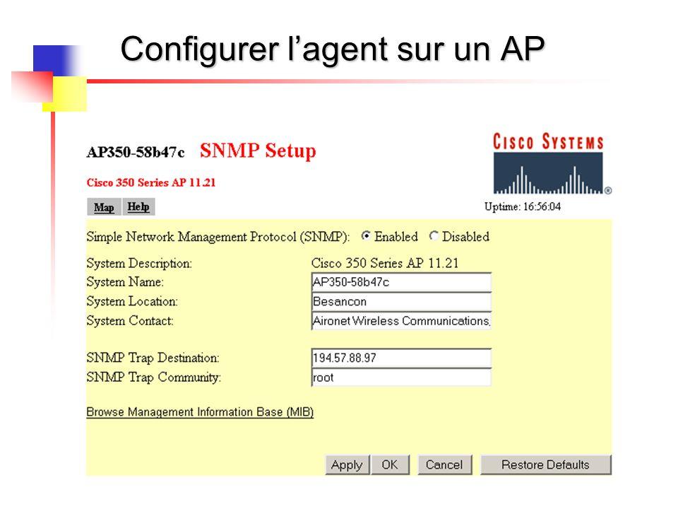 73 Configurer lagent sur un AP