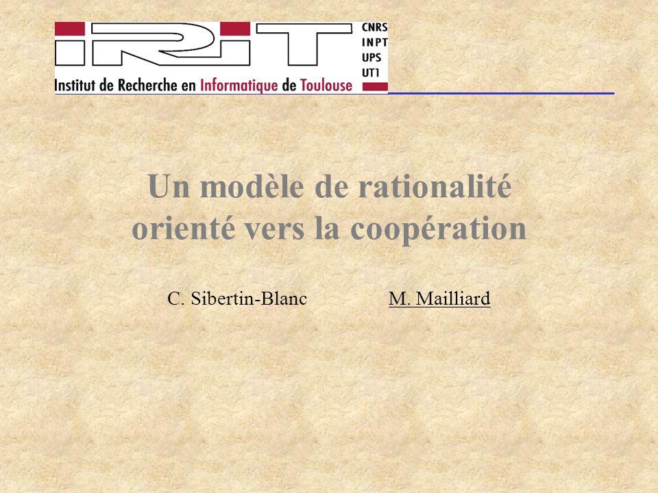 Un modèle de rationalité orienté vers la coopération C. Sibertin-Blanc M. Mailliard