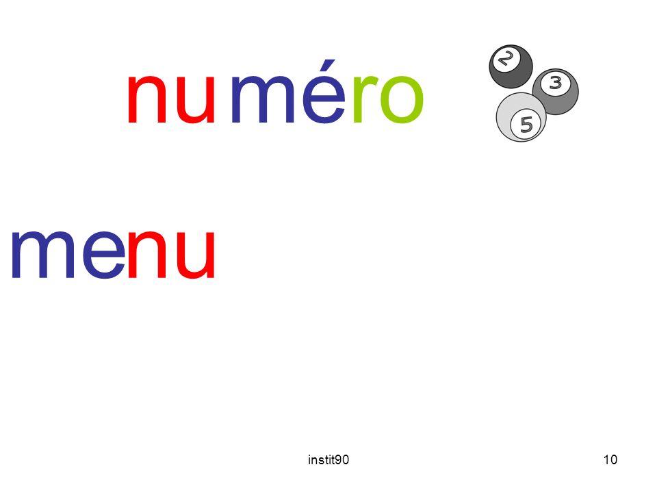 instit9010 méronu menu