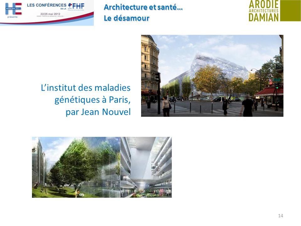 Architecture et santé… Le désamour 14 Linstitut des maladies génétiques à Paris, par Jean Nouvel