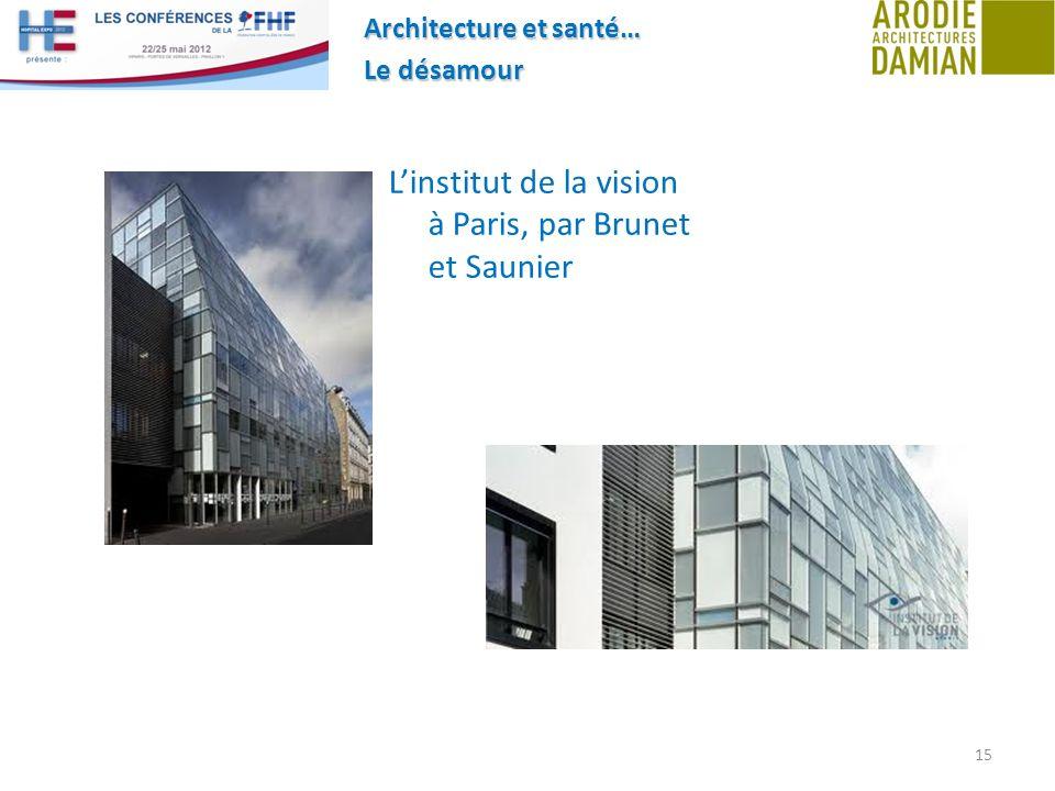Architecture et santé… Le désamour 15 Linstitut de la vision à Paris, par Brunet et Saunier