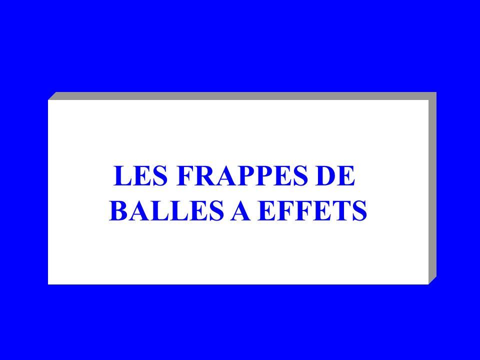 LES FRAPPES DE BALLES A EFFETS