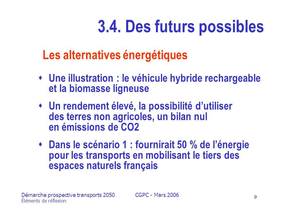 Démarche prospective transports 2050 Éléments de réflexion CGPC - Mars 2006 9 3.4.