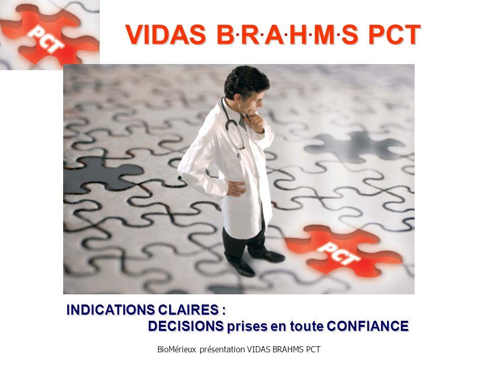 BioMérieux présentation VIDAS BRAHMS PCT VIDAS BRAHMS PCT VIDAS B.