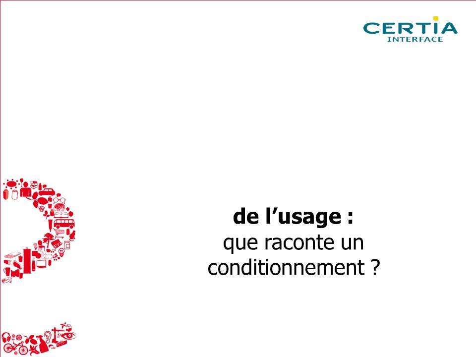 Packaging : la réalité du consommateur Mai 2013 3 de lusage : que raconte un conditionnement ?