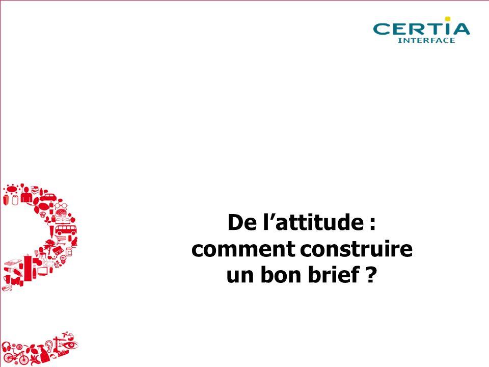 Packaging : la réalité du consommateur Mai 2013 9 De lattitude : comment construire un bon brief ?