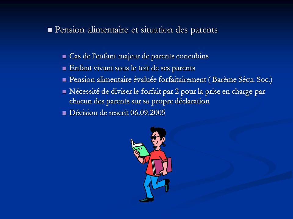 Pension alimentaire et situation des parents Pension alimentaire et situation des parents Cas de lenfant majeur de parents concubins Cas de lenfant ma