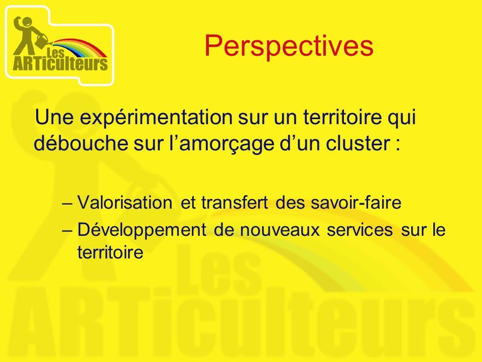 Une expérimentation sur un territoire qui débouche sur lamorçage dun cluster : –Valorisation et transfert des savoir-faire –Développement de nouveaux