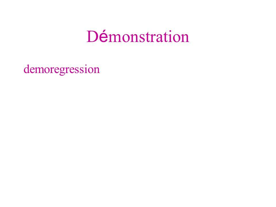 D é monstration demoregression