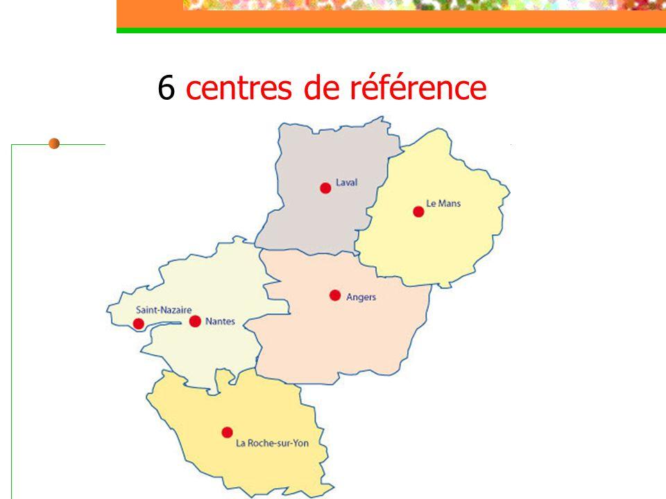 6 centres de référence