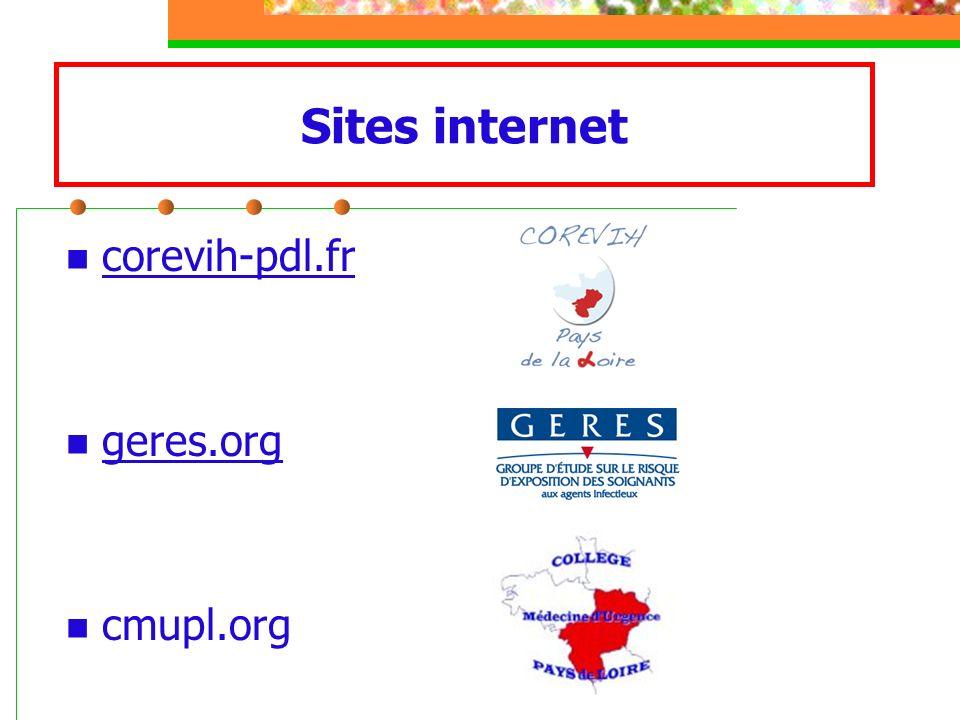 Sites internet corevih-pdl.fr geres.org cmupl.org