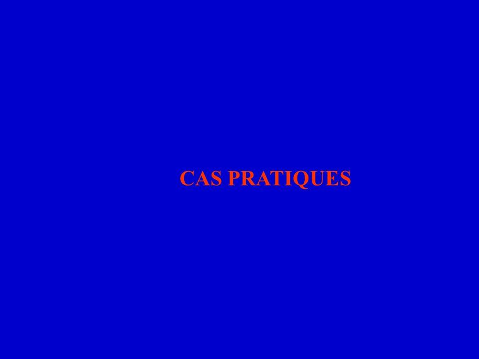 CAS PRATIQUES