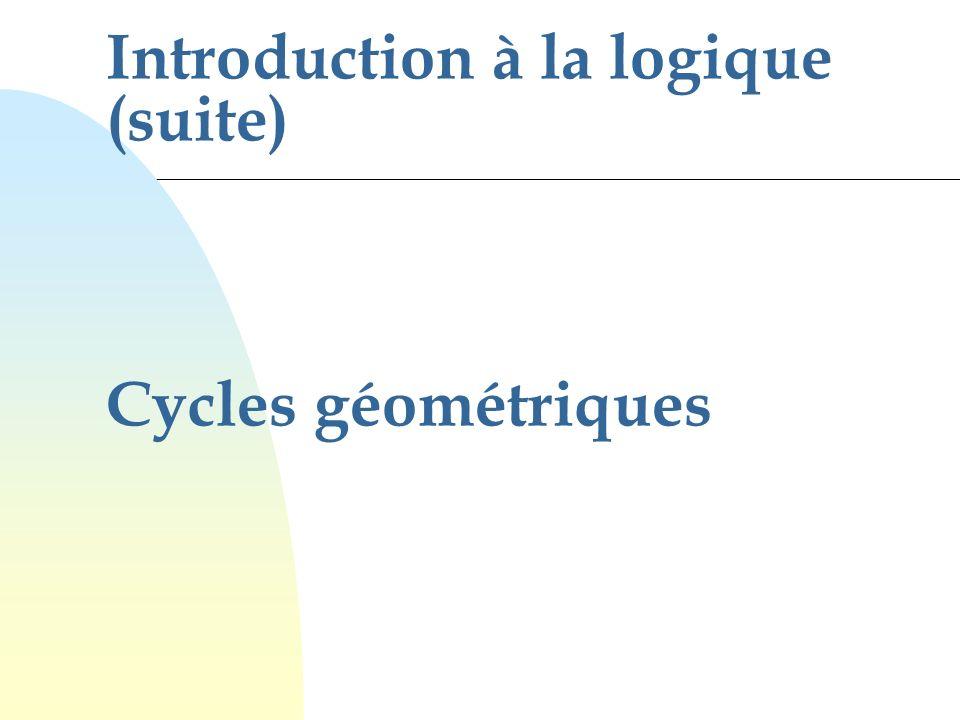 Introduction à la logique (suite) Cycles géométriques