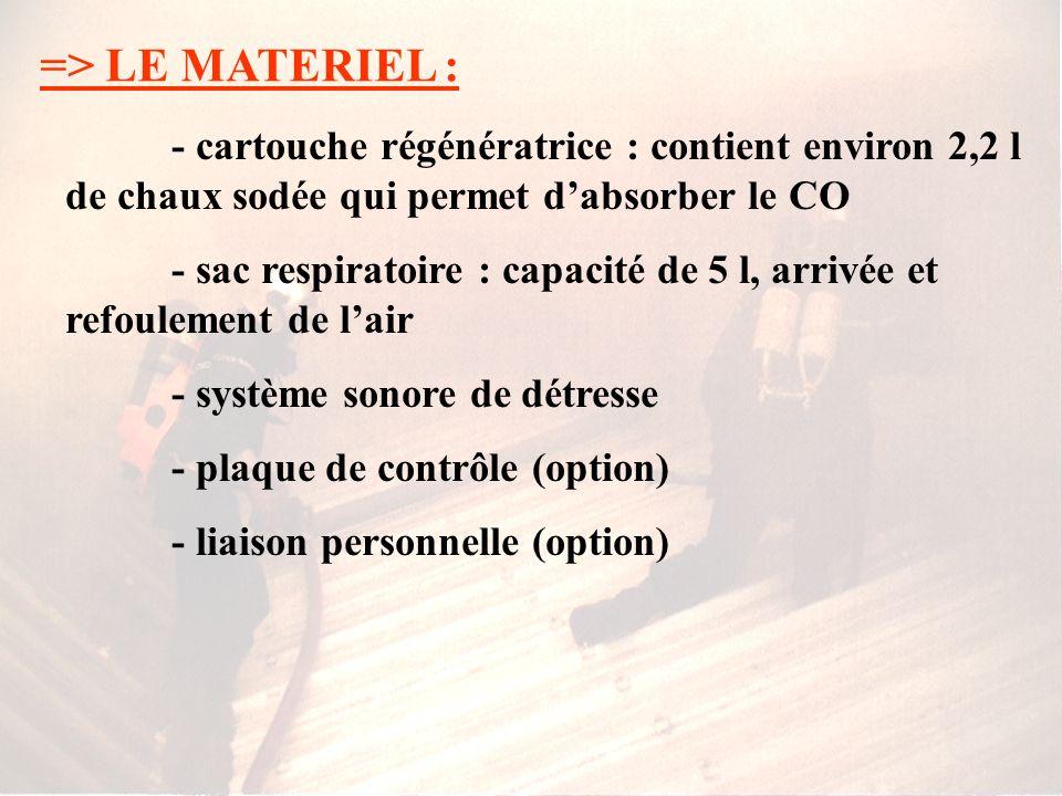 => LE MATERIEL : 2)- Les ARI circuit fermé : Ils se composent de : - masque - bouteille dO2 de 1 L à 200 bars - dispositif de portage - boîte à valves