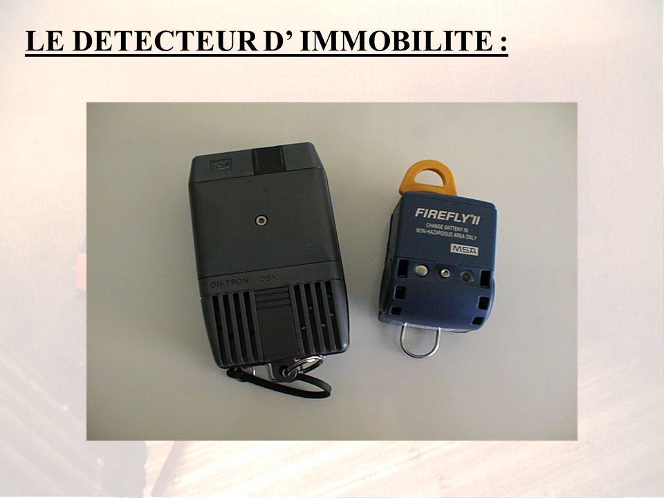 => LE MATERIEL : Le système sonore de détresse : - corne dappel => manuel - automatique => balise sonore de localisation Le détecteur dimmobilité se p