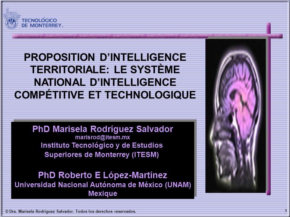 1 © Dra. Marisela Rodríguez Salvador. Todos los derechos reservados. PhD Marisela Rodríguez Salvador marisrod@itesm.mx Instituto Tecnológico y de Estu