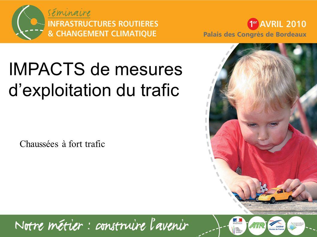 IMPACTS de mesures dexploitation du trafic Chaussées à fort trafic
