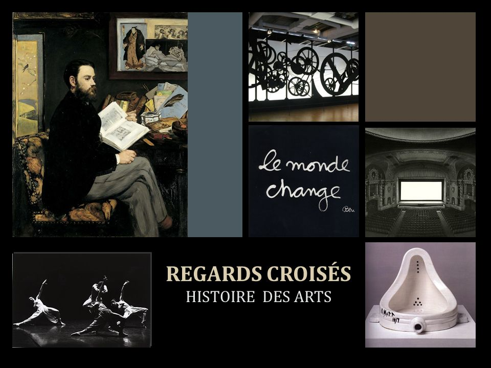 + REGARDS CROISÉS HISTOIRE DES ARTS