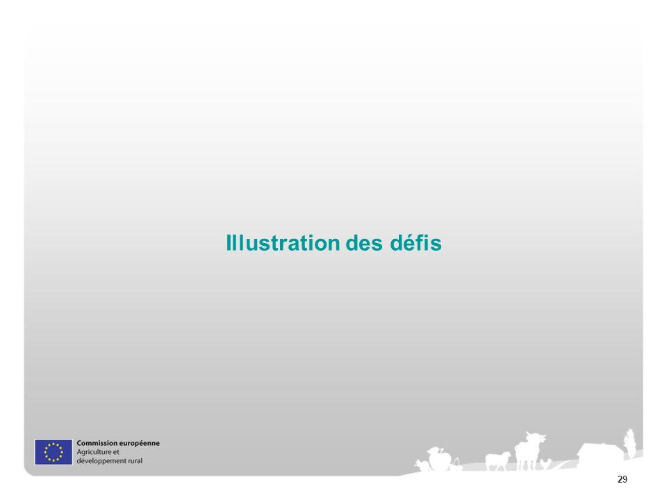 29 Illustration des défis