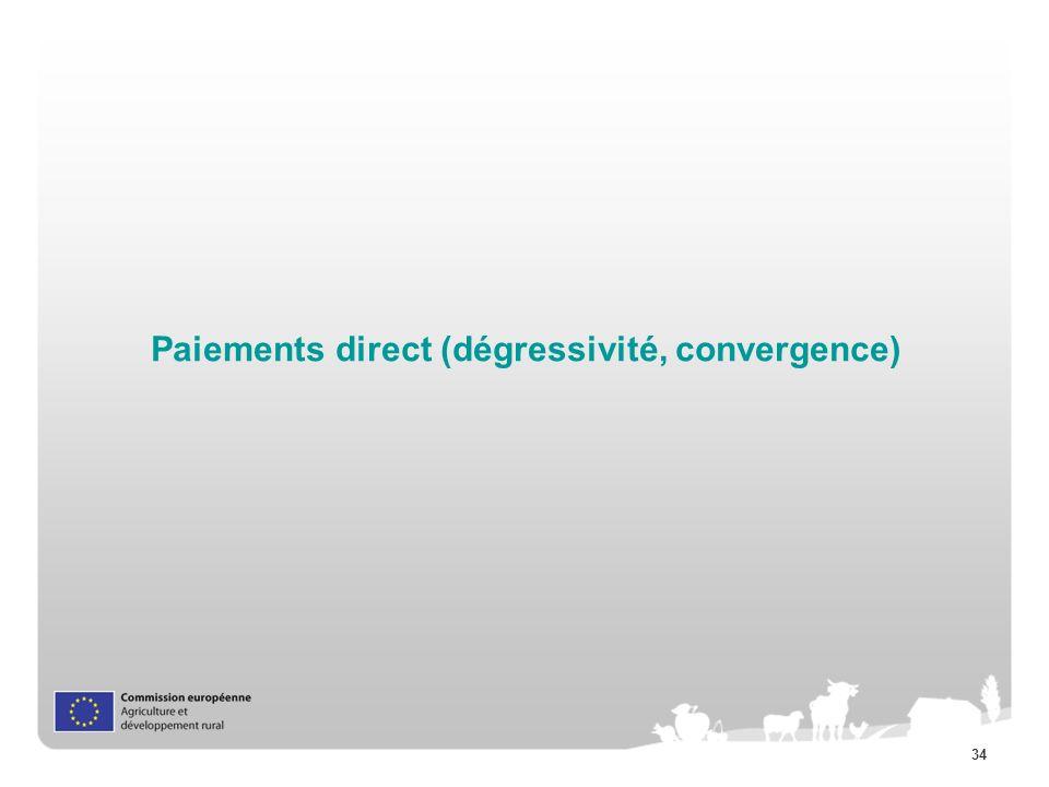 34 Paiements direct (dégressivité, convergence)