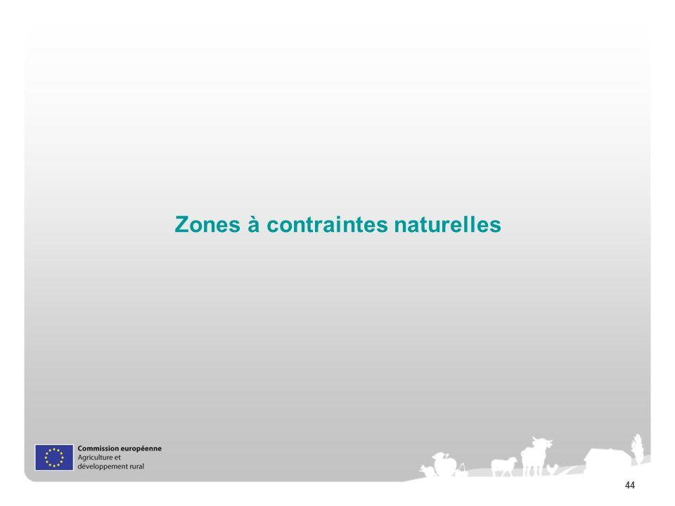 44 Zones à contraintes naturelles