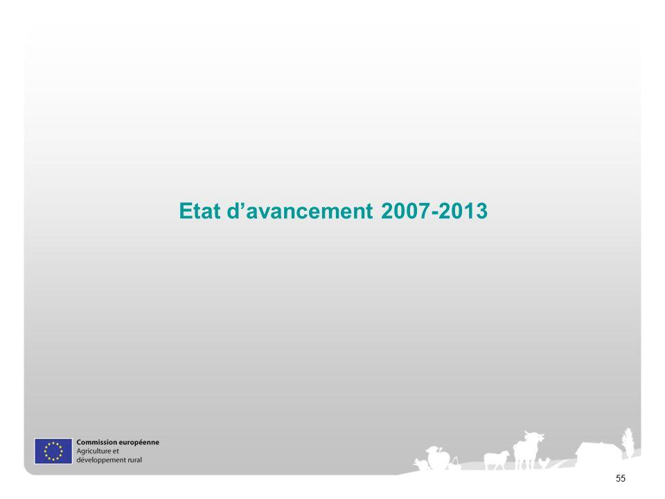55 Etat davancement 2007-2013