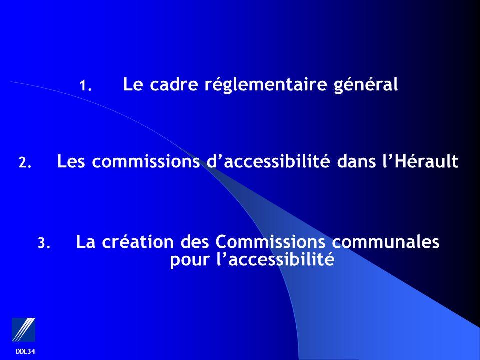 DDE34 1. Le cadre réglementaire général 2. Les commissions daccessibilité dans lHérault 3.