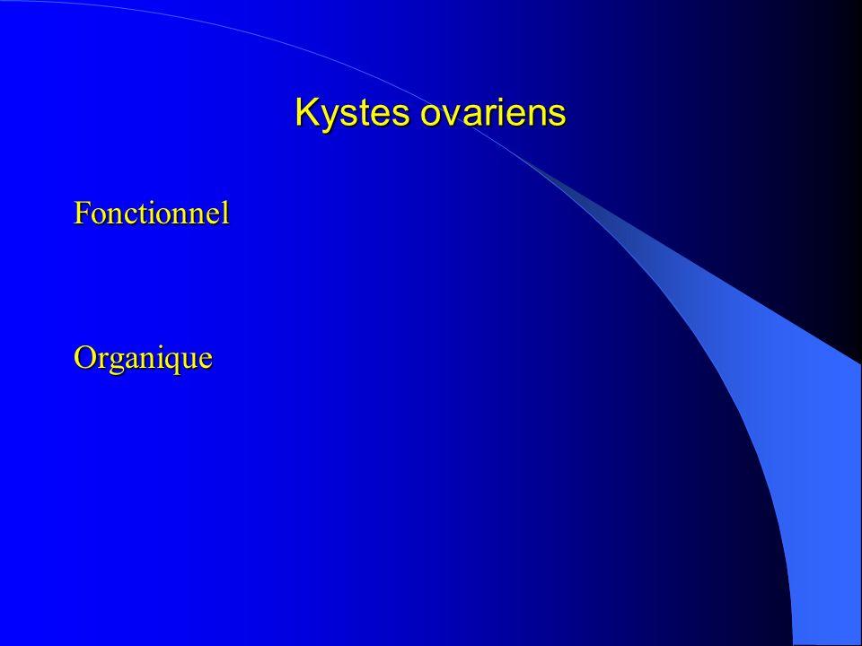 Kystes ovariens FonctionnelOrganique