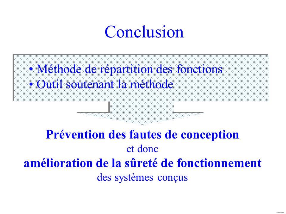 Marc Mersiol Conclusion Méthode de répartition des fonctions Outil soutenant la méthode Prévention des fautes de conception et donc amélioration de la