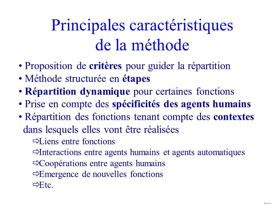 Marc Mersiol Principales caractéristiques de la méthode Proposition de critères pour guider la répartition Méthode structurée en étapes Répartition dy