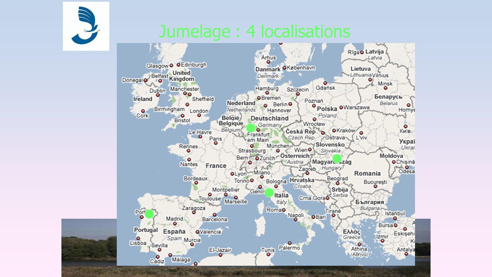 Jumelage : 4 localisations