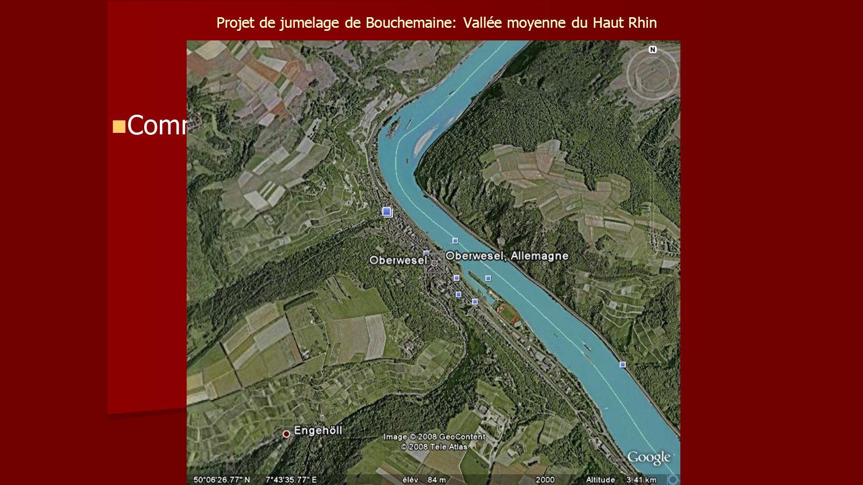 Projet de jumelage de Bouchemaine: Vallée moyenne du Haut Rhin Communes