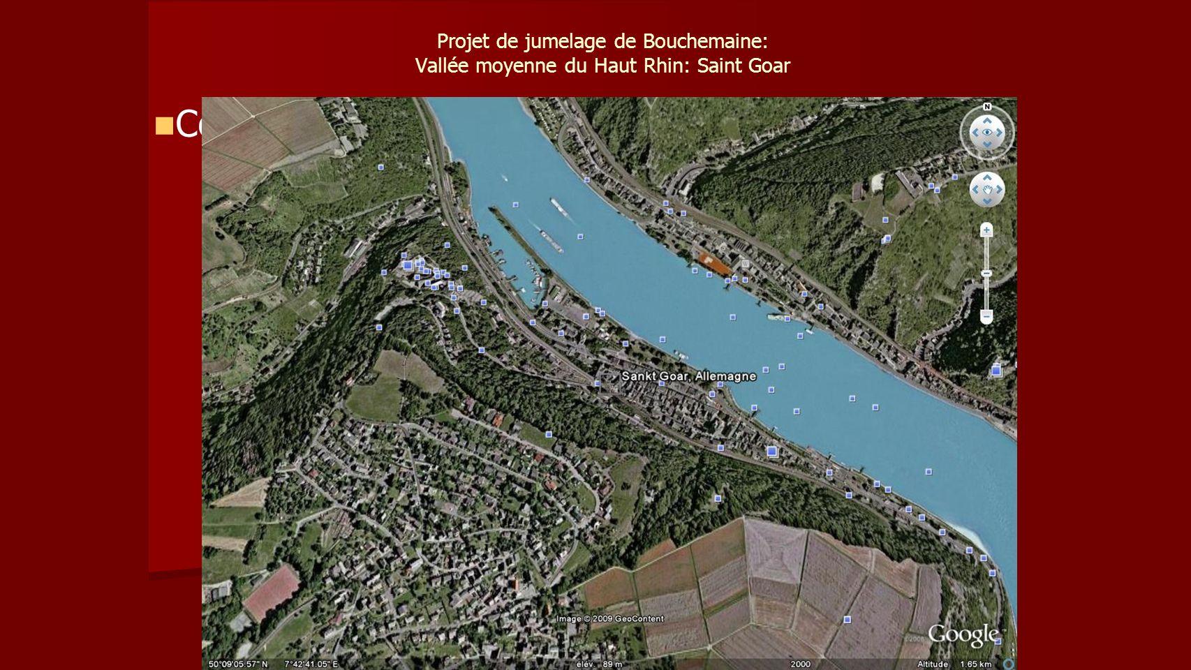 Projet de jumelage de Bouchemaine: Vallée moyenne du Haut Rhin: Saint Goar Communes