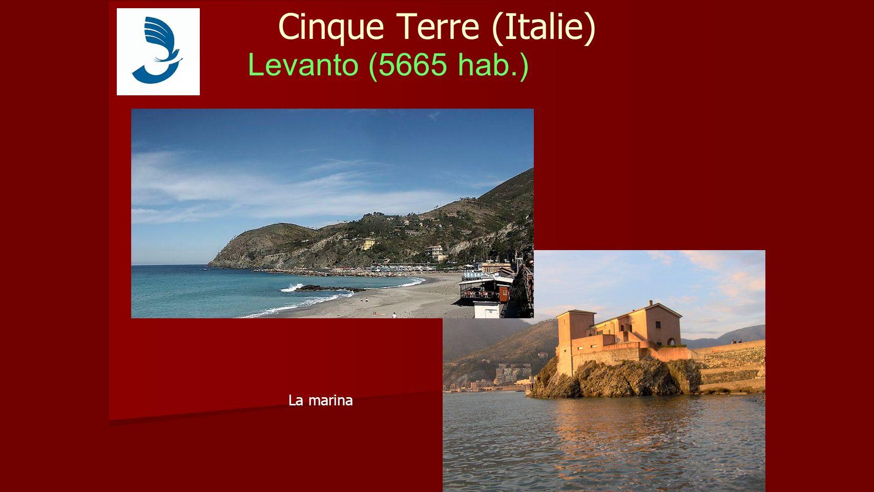 Cinque Terre (Italie) Levanto (5665 hab.) La marina