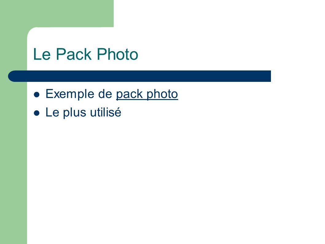 Le Pack Photo Exemple de pack photopack photo Le plus utilisé