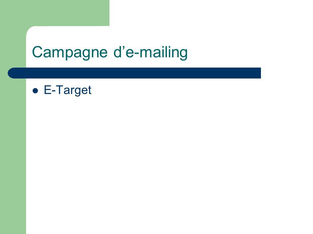 Campagne de-mailing E-Target