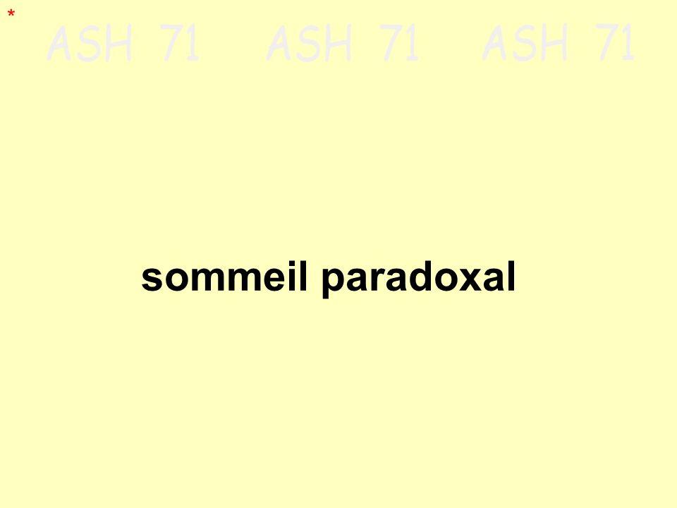 sommeil paradoxal *