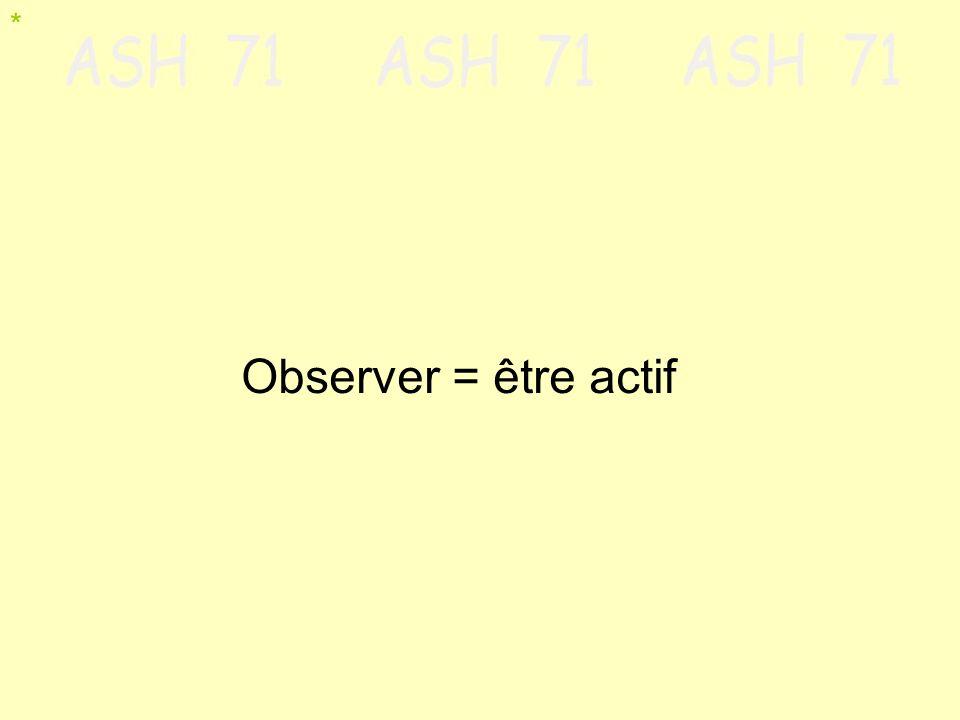 Observer = être actif *