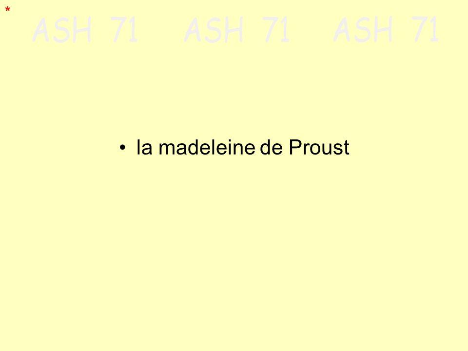 la madeleine de Proust *