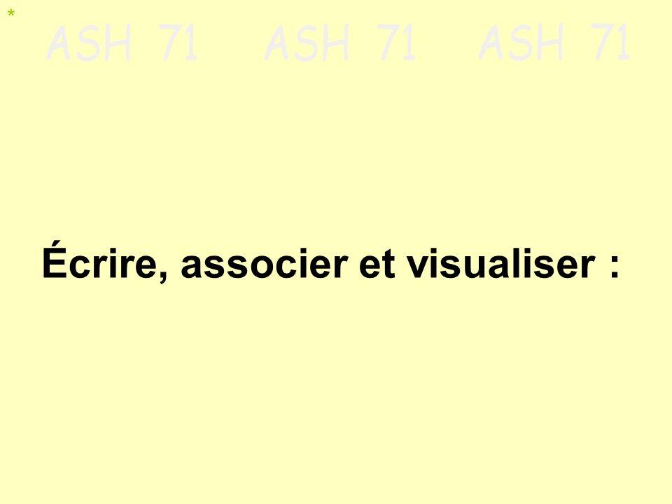 Écrire, associer et visualiser : *